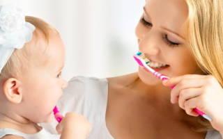 Когда детям начинать чистить зубы