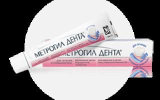 Гель для лечения десен метрогил дента